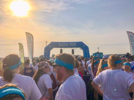 Bubble Run 5K Start Line