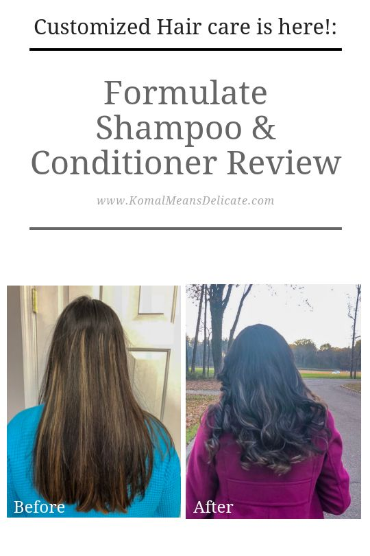 Customized Hair care is here!:  Formulate Shampoo & Conditioner Review