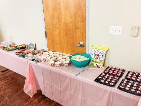 The amazing snack set up